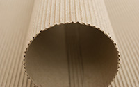 Sheet of Corrugated Paper Treated with Paper Shield